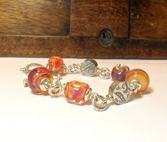 Sterling Silver Zentangle Beads with Amber by StudioJewellerybyJo, £110.00