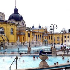 Brush-stroked grey skies and soft patches of snow, Budapest in winter is a trip into the Eastern European city's long and eventful past. Visit Budapest, Grey Skies, Long Haul, Outdoor Pool, Good Times, Taj Mahal, Fun Time, Mansions, City