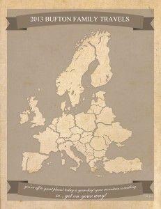 Europe Travel Map