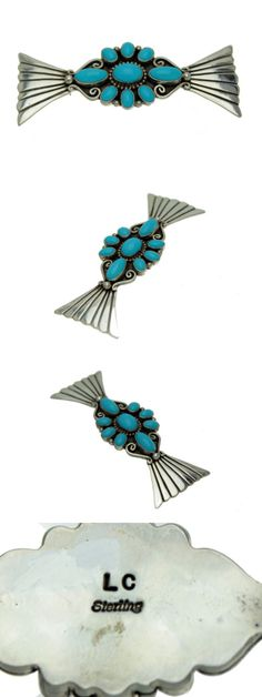 Pins Brooches 98499: Lee Charley, Kingman Turquoise, Cluster Pin, Sterling Silver, Signed, Navajo -> BUY IT NOW ONLY: $180 on eBay!