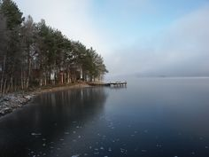 Frozen lake, pure and crisp air, silent nature - it's the beginnig of winter in Uitonniemi