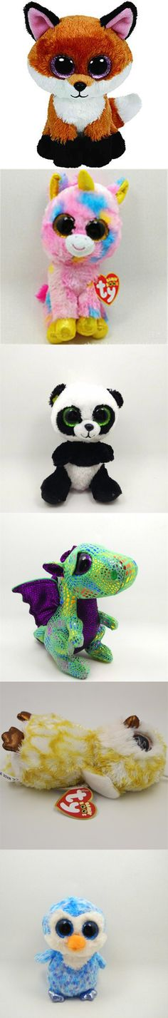 2015 Ty Beanie Boos Big Eyed Stuffed Animal Brown Slick Fox Plush Doll Kids Toy 6' Birthday Gift Good Quality Soft Big Eyes L02