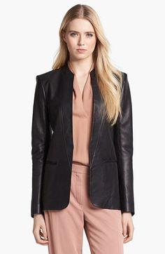 Theory 'Tamler R.' Open Leather Blazer