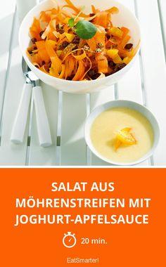 Salat aus Möhrenstreifen mit Joghurt-Apfelsauce - smarter - Zeit: 20 Min.   eatsmarter.de
