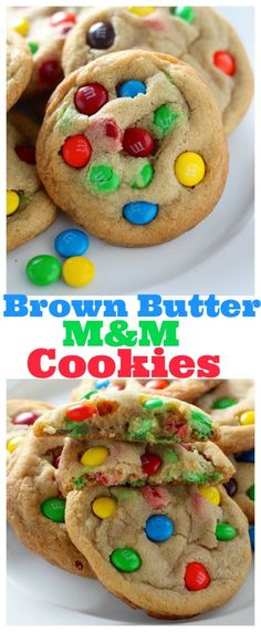 These are INCREDIBLE! Super Thick and Chewy Brown Butter M&M Cookies. Loved by young and old!