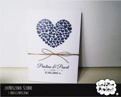 Zaproszenia Ślubne Serca WZORY Zaproszenie na ślub