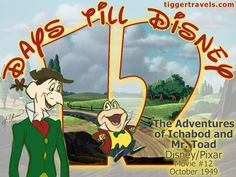 Days till Disney: 12 days The Adventures of Ichabod and Mr. Toad Movie # 12 - October 1949 -  #TTDAVCDN Count down to YOUR next Disney vacation at: http://www.tiggertravels.com/ #disneycountdown #vacationcountdown  #Disney #vacation #TiggerTravels #TiggerTravelsSite #TiggerTravelsDotCom  #TiggersTravels