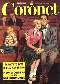 """""""Coronet"""" magazine front cover October 1951"""