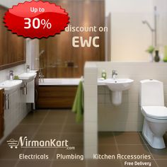Up to 30% discount on #EWC  #Water Closets  https://www.nirmankart.com/buy/plumbing_sanitary/water-closets
