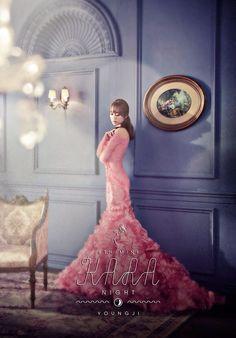 KARA revela fotos teaser versión 'Sunset' y 'Night' Kara Youngji, Alexander Ferrario, Heo Young Ji, Sistar, Jackson Wang, Kpop Girls, Mini Albums, Editorial Fashion, Ball Gowns