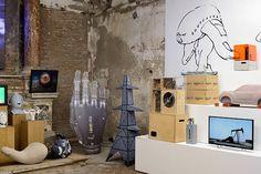 "Mark Leckey ""UniAddDumThs"" at Sant'Andrea de Scaphis, Rome, 2016"