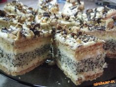 Show details for Recept - Francúzske medové rezy Slovak Recipes, Czech Recipes, Ethnic Recipes, My Favorite Food, Favorite Recipes, Tiramisu, Sweet Recipes, Ham, Banana Bread