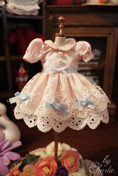 Free shipping high quality Handmade pink dress Doll Clothes for Blythe licca azone Doll accessories Toys Gift