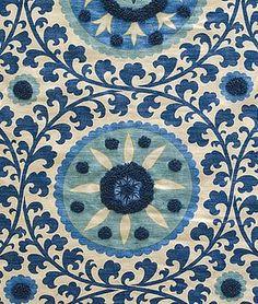 Kaitag Azure by Pindler Motifs Textiles, Textile Patterns, Textile Design, Color Patterns, Fabric Design, Print Patterns, Pattern Design, Suzani Fabric, Drapery Fabric