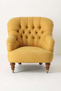Anthropologie - Linen Corrigan Chair for the living room