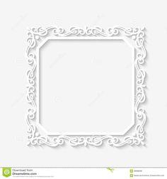 vintage square frame vector - Recherche Google