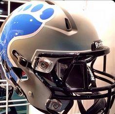 Helmet on display at the 2014 AFCA Convention. Football Helmet Design, College Football Helmets, Football Uniforms, Unc Chapel Hill, Unc Tarheels, Sports Apparel, Tar Heels, Buckets, Sport Outfits