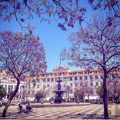 Lisbon downtown, Rossio square #Portuga l