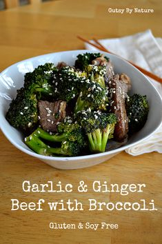 Garlic and Ginger Beef with Broccoli (omit sesame seeds for AIP)