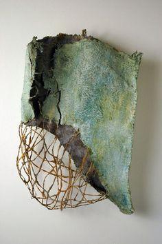 Myungjin Kim, Translucid Remains 3, 26 x 16 x 3.5, Steel, Ceramic, 2005