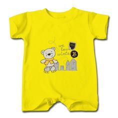 Little Bear Skating Yellow Cute T-romper For Baby Store-Funny Clothing with 98% happy customers! Create custom shirts and personalized goods at HICustom,Use our online designer to add your design, logos, or text. easily!