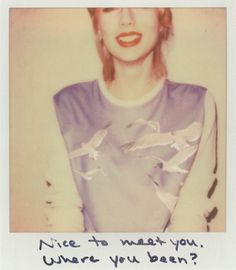 Taylor Swift 1989 Polaroid