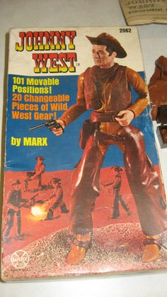 1965 Marx Toys Johnny West Cowboy Doll Figure w/ Accessories Boxed + Extras