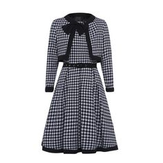 Black Plaid Evening Style A-line Dress – Kamille and Co.