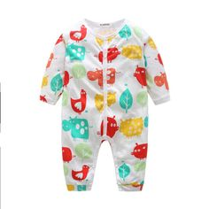 Hot Sell 2017 New Autumn Winter Newborn Baby Rompers Long Sleeve Wear Boy Girl Kit Climbing Clothes 3 Kinds For You Choose #Affiliate