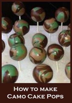 Camo and Swirl Cake Pops by Livi M