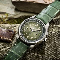 Meet the first of just 100. #Montblanc 1858 Monopusher Chronograph Limited Edition 100 builds on Minerva's revolutionary designs with a vintage look smoked green dial and matching green alligator strap. Limited to 100 pieces. #SpiritOfExploration #SIHH