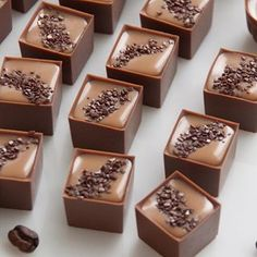 Chocolates with Coffee Cream inside. Chocolate Candy Recipes, Chocolate Shop, Chocolate Truffles, Chocolate Lovers, Dessert Party, Nutella Cake, Beautiful Desserts, Chocolate Packaging, Fancy Desserts