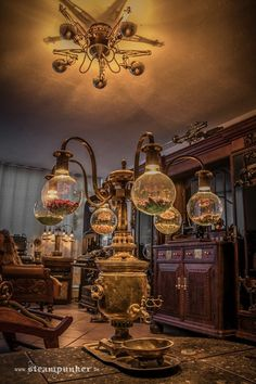Steampunk home decor (from https://www.facebook.com/SteampunkArtwork?fref=photo)