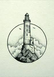 Картинки по запросу тату маяк маленький