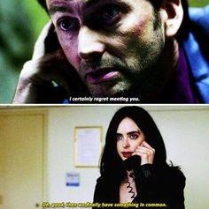 """I certainly regret meeting you"" - Killgrave and #JessicaJones"