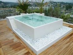 apartment rooftop jacuzzi pool and hot tub ideas 10 Phenomenal Backyard Hot Tub Ideas for a Home Hot Tub Backyard, Small Backyard Pools, Small Pools, Indoor Pools, Lap Pools, Pool Decks, Pool Spa, Jacuzzi Pool, Whirlpool Jacuzzi