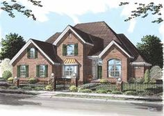Home Plans HOMEPW26526 - 2,487 Square Feet, 4 Bedroom 3 Bathroom New American Home with 2 Garage Bays