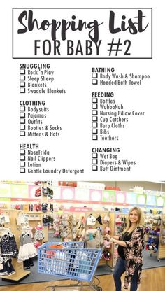 Shopping List for Baby Number TWO - Printable Checklist for Baby Essentials @buybuybaby | What to buy for the second baby |