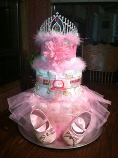 Ballerina princess diaper cake by Ashlie Pieren Goetze