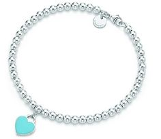Return to Tiffany bracelet with blue heart