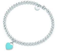 Return to Tiffany bracelet with blue heart