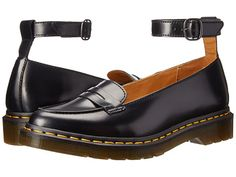 e64b879473b Dr martens leonie pointed ankle strap penny loafer