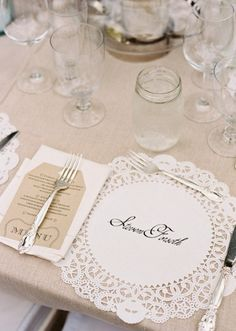 Place setting #weddings