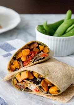 Recipe: Roasted Sweet Potato Wraps with Caramelized Onions and Pesto