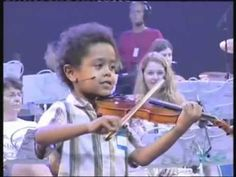 Akim Camara aged 5 violonist & Andre Rieu  in New York playing Dance Of The Fairies