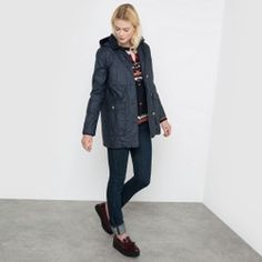 Coated Parka with Detachable Hood and Lining La Redoute Collections - Women's Sale