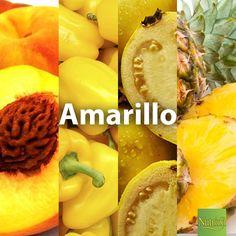 ¡Incluye los alimentos de color amarillo en tu dieta diaria! Nos proporcionan vitamina C y carotenoides que ayudan a retrasar el envejecimiento celular y a mantener una piel joven.  Recuerda incluir alimentos como: - Durazno - Pimiento Amarillo - Guayaba - Piña  ¡Chop, chop, chop!