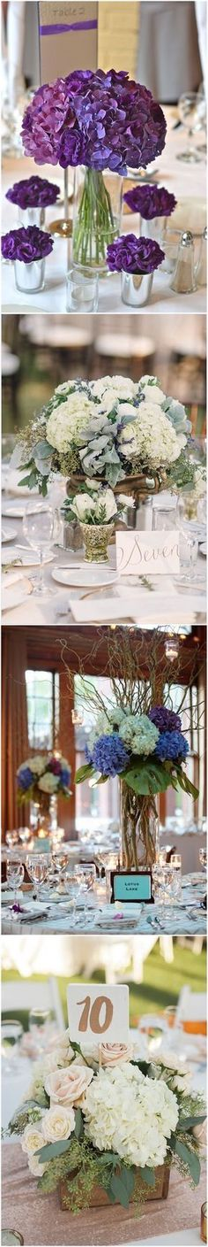 Wedding Centerpieces » 21 Simple Yet Rustic DIY Hydrangea Wedding Centerpieces Ideas » ❤️ See more: http://www.weddinginclude.com/2017/07/simple-yet-rustic-diy-hydrangea-wedding-centerpieces-ideas/