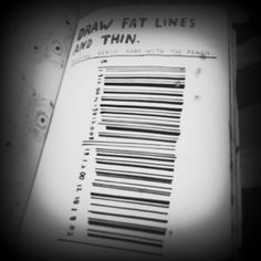 Wreck This Journal(WTJ) .draw fat lines and thin.