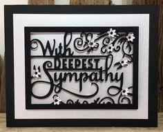 With Deepest Sympathy Handmade Card Black and by SarahLouCards                                                                                                                                                                                 More